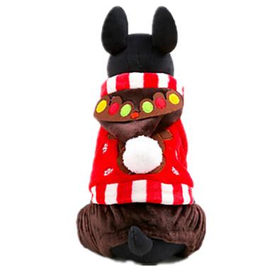 犬 コート 犬用ウェア カジュアル/普段着 スノーフレーク柄 レッド
