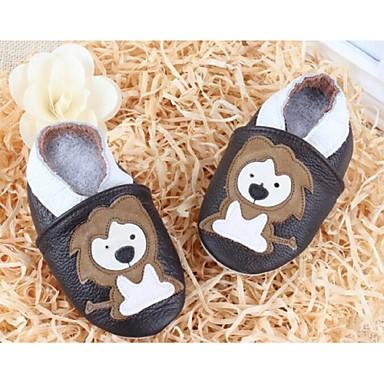 Barn Jente Baby sko Lær Komfort Flate sko Til Avslappet Svart