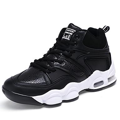 Miehet kengät Mikrokuitu Kevät Kesä Syksy Talvi Comfort Urheilukengät Jouksu Käyttötarkoitus Urheilullinen Kausaliteetti Musta