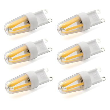 2W G9 LED Bi-Pin lamput T 4 COB 190 lm Lämmin valkoinen / Kylmä valkoinen Koristeltu AC 220-240 V 6 kpl