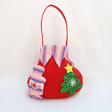 4 stk julegave pose godteri pose parti leverer jule eple gavepose (stil tilfeldig)