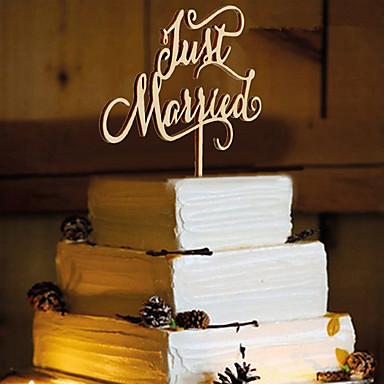 Acessório para Bolo Madeira / Mistura de Material Decorações do casamento Aniversário / Festa de Casamento Tema Clássico Todas as Estações