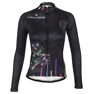 ILPALADINO Women's Long Sleeve Cycling Jersey Bike Winter Fleece Jacket Jersey Waterproof Thermal / Warm Windproof Sports Winter Polyester Terylene Mountain Bike MTB Road Bike Cycling Clothing Apparel