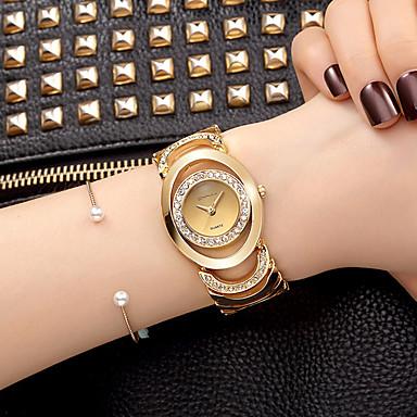 Недорогие Женские часы-Жен. Часы-браслет Наручные часы Diamond Watch Кварцевый Серебристый металл / Золотистый Имитация Алмазный Аналоговый Дамы Кулоны Блестящие Винтаж На каждый день - / Два года / Два года