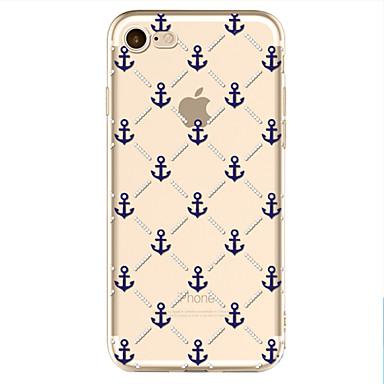 Käyttötarkoitus iPhone X iPhone 8 kotelot kuoret Kuvio Takakuori Etui Ankkuri Pehmeä TPU varten Apple iPhone X iPhone 8 Plus iPhone 8