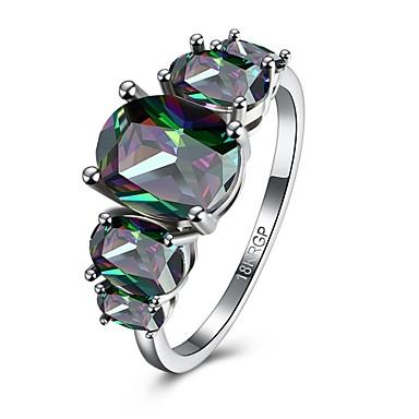 女性 指輪 婚約指輪 多色 ジルコン キュービックジルコニア 銅 ジュエリー 結婚式 パーティー 日常 カジュアル