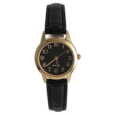 Mulheres Relógio de Pulso Venda imperdível / / PU Banda Casual / Fashion / Minimalista Preta