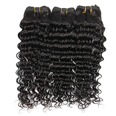 Cabelo Brasileiro Onda Profunda Tramas de cabelo humano 3 Peças Cabelo Humano Ondulado