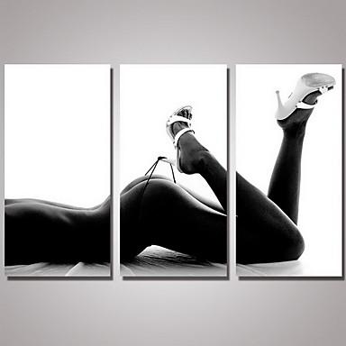 Trykk Håndmalte - Still Life Realisme / Moderne Inkluder indre ramme