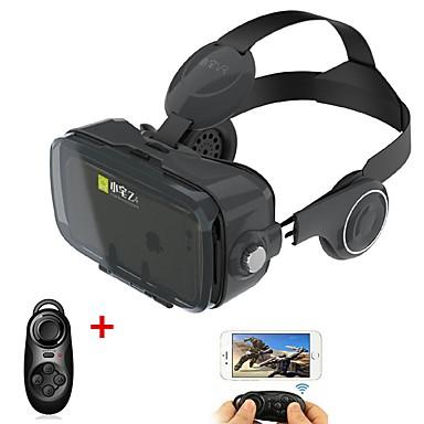 svart vr 3d glasse integrert øretelefon virtuell virkelighet headset bobo vr for 4/7 til 6/2 tommers smarttelefon med gamepad