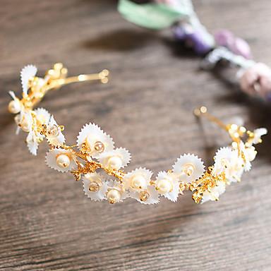 成人用 合金 人造真珠 かぶと-結婚式 パーティー カジュアル ティアラ 1個