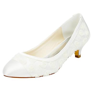 Chaussures Mariage 05417128 Habillé Elastique Soirée Talons Ivoire Kitten Homme Heel Evénement Satin amp; Others à STqxwndzf