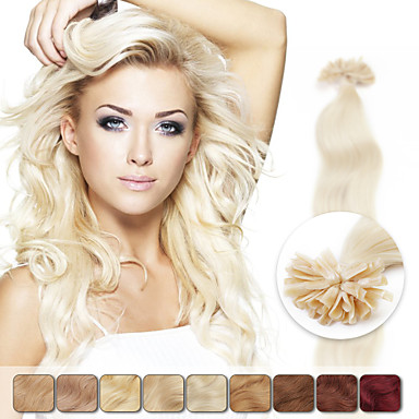 neitsi 20 calowy 1g / s 100g keratyny tip fuzji u paznokci naturalnych weavy ludzkich włosów rozszerzeniach