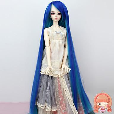 Naisten Synteettiset peruukit Suora Sininen Letitetty peruukki Afrikkalaiset letit Doll Wig puku Peruukit