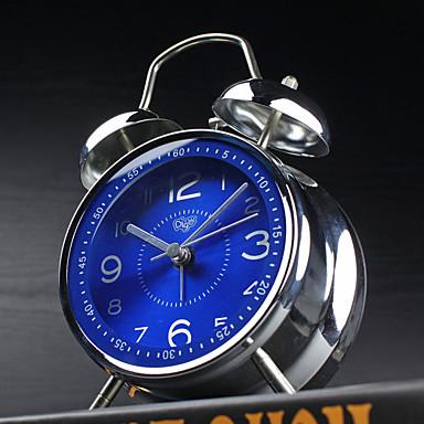 vekkerklokke med Matel saken moderne stil blå farge stille movment