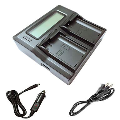 ニコンD7000のd7100のd7200のD750のD610 D800のD810カメラbatterysのための車の充電ケーブルとismartdigi EL15 LCDデュアル充電器