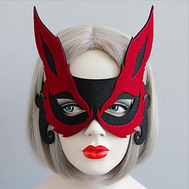 1pc Bomull Dekorasjon Helligdag Dekorasjoner Fest Masker Smuk