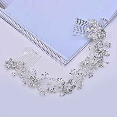 Imitação de Pérola Liga Headbands Pentes de cabelo 1 Casamento Ocasião Especial Casual Capacete