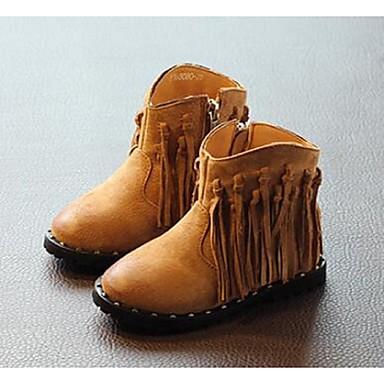 Bootsit-Tasapohja-Tyttöjen-Nahka-Musta Kahvi-Rento-Comfort