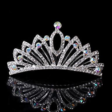Ștras Diademe / Îmbrăcăminte de păr / Veșminte de cap cu Floral 1 buc Nuntă / Ocazie specială / Casual Diadema