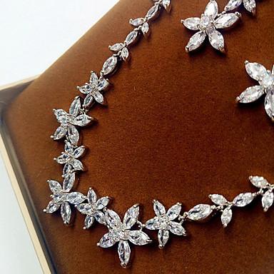 Mujer Zirconia Cúbica Conjunto de joyas - Zirconio, Zirconia Cúbica, Diamante Sintético Incluir Plata Para Boda / Fiesta / Pendientes / Collare