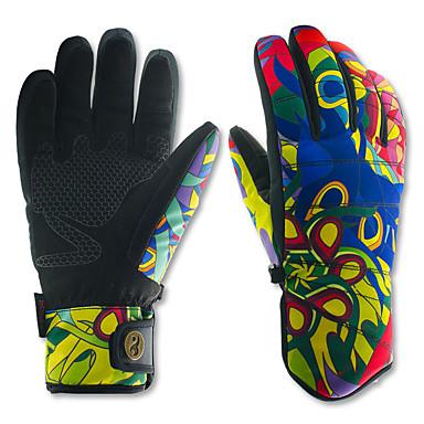 Guantes de esquí Hombre / Mujer Dedos completos Resistente al Viento / Impermeable / Mantiene abrigado Cuero sintético / Poliéster / 100% Poliéster Esquí Invierno
