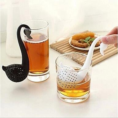 újdonság hattyú alakú tea szűrő filter gyógynövény fűszer szűrő diffúzor
