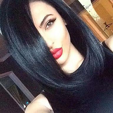 Synteettiset peruukit Laineita Synteettiset hiukset Afro-amerikkalainen peruukki Musta Peruukki Naisten Suojuksettomat