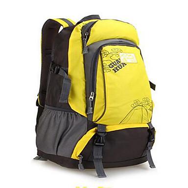 50L バックパック / サイクリングバックパック - 防水, 高通気性, 耐衝撃性の キャンピング&ハイキング, 登山, レジャースポーツ ナイロン ブラック, ルビーレッド, イエロー
