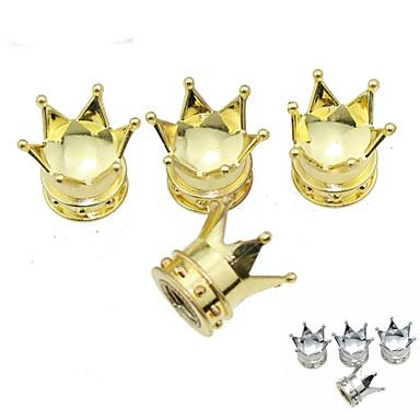 Luxus-Auto Reifen kaiserliche Krone Kupferventile Dekoration Kappe (4 Stück pro Packung)