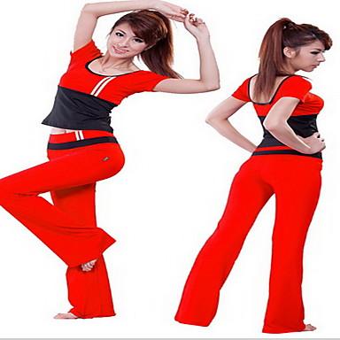 Naisten Verryttelypuku Lyhythihainen Hengittävä Hikeä siirtävä T-paita Pants Vaatesetit Topit varten Jooga Kuntoilu Kilpailu Juoksu