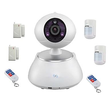 snov® vezeték nélküli ip ir PTZ kamera 6db vezeték nélküli riasztó érzékelő, mozgásérzékelő, app sv-vpc2k4