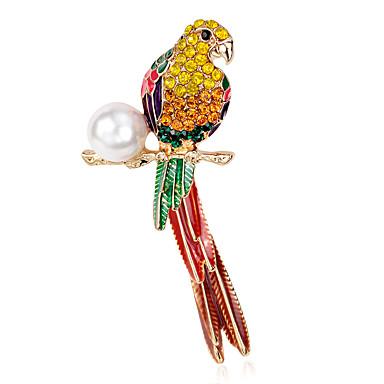 voordelige Dames Sieraden-Dames Broches Bloem Parrot Dames Luxe Parel Broche Sieraden Regenboog Voor Feest Dagelijks Causaal