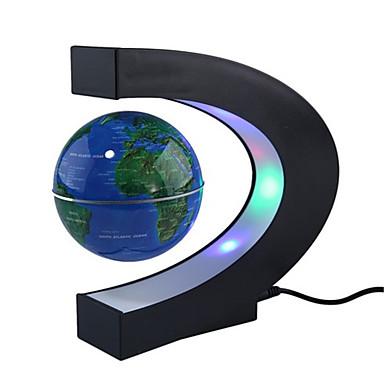 c Form blau führte Weltkarte Dekor zu Hause elektronische Magnetschwebebahn schwebender Globus Anti-Schwerkraft Licht Geschenk Dekoration
