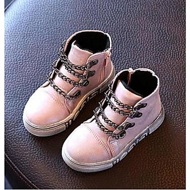 Tyttöjen Kengät Tekonahka Comfort Bootsit Käyttötarkoitus Kausaliteetti Hopea Harmaa Pinkki