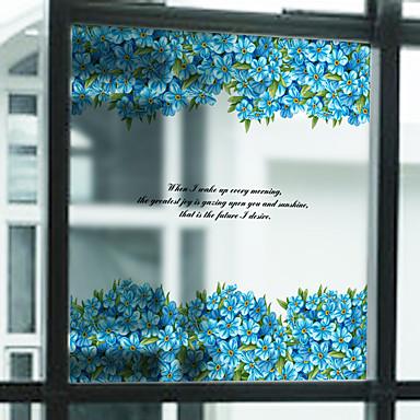 樹木/葉 コンテンポラリー ウインドウステッカー, PVC /ビニール 材料 窓の飾り