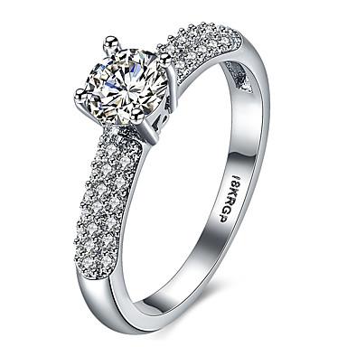 Ring Kubikzirkonia Liebe Herz Luxus-Schmuck Diamantimitate Aleación Vier Krappen Silber Schmuck Für Hochzeit Verlobung Normal 1 Paar