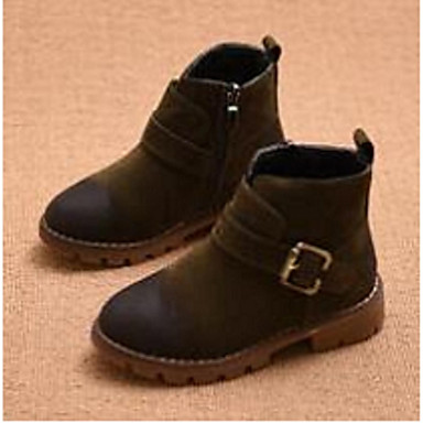 Tyttöjen kengät Mokkanahka Comfort Bootsit Käyttötarkoitus Kausaliteetti Musta Vihreä Burgundi