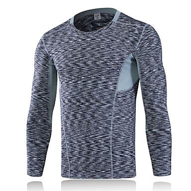Hombre Camiseta para senderismo Al aire libre Invierno Secado rápido Listo para vestir Transpirable Cómodo Reductor del Sudor Ligeras