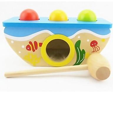ハンマー / パディング玩具 赤ちゃん&幼児用おもちゃ 知育玩具 教育 アイデアジュェリー 木製 ウッド 1pcs 子供用 女の子 男の子 ギフト