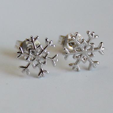 Tropfen-Ohrringe Schmuck Luxus-Schmuck Europäisch Chrismas nette Art Sterling Silber Diamantimitate Kreuzform Schneeflocke Silber Schmuck