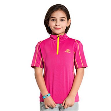 Lasten Juoksupaita Lyhythihainen Nopea kuivuminen Tuulenkestävä Hengittävä Topit varten Jooga Taekwondo Kiipeily Kuntoilu Golf Vapaa-ajan