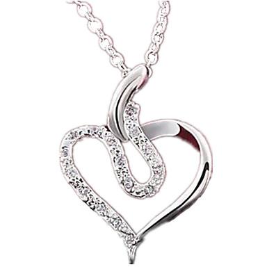 Damen Gestalten Liebe Modisch Halsketten Anhängerketten Anhänger Statement Ketten Synthetische Edelsteine Sterling Silber Zirkon