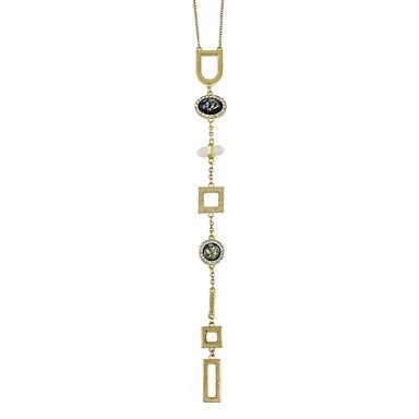 للمرأة هندسي القلائد بيان - أساسي, موضة ذهبي قلادة مجوهرات من أجل يوميا
