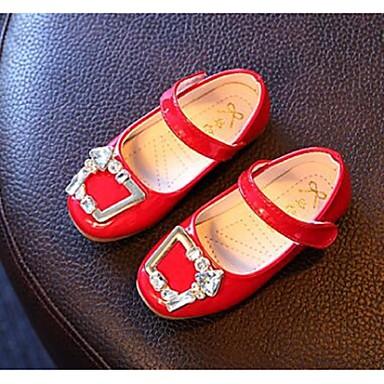 女の子 靴 PUレザー コンフォートシューズ フラット 用途 カジュアル ブラック グレー レッド ピンク