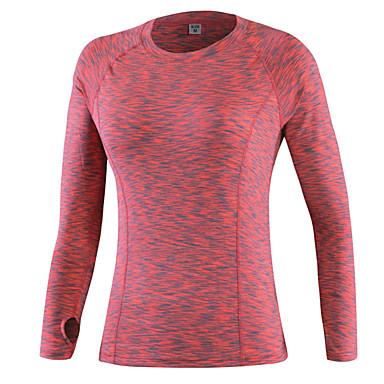 Homens Camiseta de Trilha Ao ar livre Inverno Secagem Rápida Vestível Respirável Confortável Roupas de Compressão Blusas Ioga Exercício e