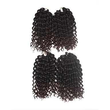 前のループかぎ針編みの三つ編み ヘアエクステンション 9Inch カネカロン 1 Package For Full Head ストランド 170g グラム 髪の三つ編み