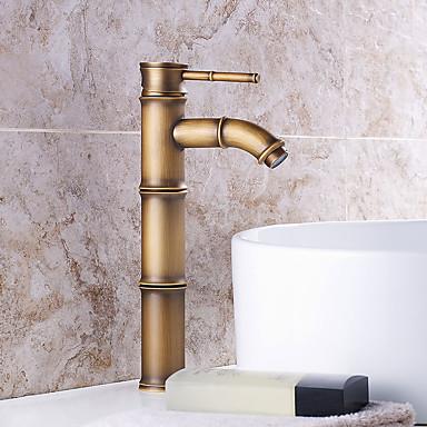Moderne Art déco/Retro Modern 3-Loch-Armatur Vorspülung Wasserfall Verbreitete Keramisches Ventil Einzigen Handgriff Zwei Löcher Antikes