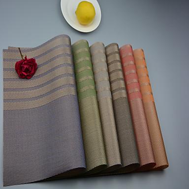 2PCS 유럽 스타일의 고품질 PVC 식사 컵 받침 테이블 placemats입니다 (12