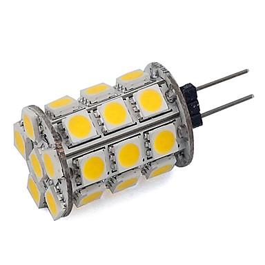 3.5 G4 LED Bi-Pin lamput Tuubi 24 SMD 5050 300 lm Lämmin valkoinen Kylmä valkoinen Himmennettävä Koristeltu DC 12 V 1 kpl
